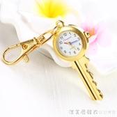 創意心形數字懷錶鑰匙扣掛錶項錬錶學生考試用石英防水手錶情侶錶 漾美眉韓衣