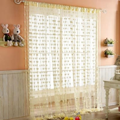 愛心線簾門簾-桃心加密流蘇裝飾窗簾(顏色隨機)73pp336【時尚巴黎】