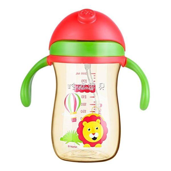 兒童水杯 寶寶學飲杯兒童水杯PPSU重力球帶手柄吸管杯防摔幼兒園喝奶杯 珍妮寶貝