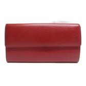 LOUIS VUITTON LV 路易威登 紅色EPI水波紋長夾 Sarah M60316 【BRAND OFF】