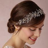 髮帶鑲鑽-歐美奢華高檔珍珠生日情人節禮物女頭飾2色73ex38[時尚巴黎]