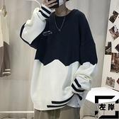 毛衣男秋季休閒寬鬆圓領針織打底衫 【左岸男裝】