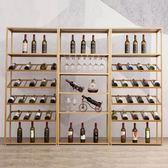 紅酒櫃金色歐式鐵藝酒架酒吧酒柜葡萄酒紅酒收納展示架置物架酒杯架 時尚新品