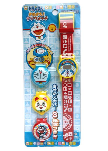 【卡漫城】 哆啦A夢 兒童錶 掀蓋式 可換殼 ㊣版 小叮噹 Doraemon 多拉 手錶 卡通錶電子錶 小叮鈴