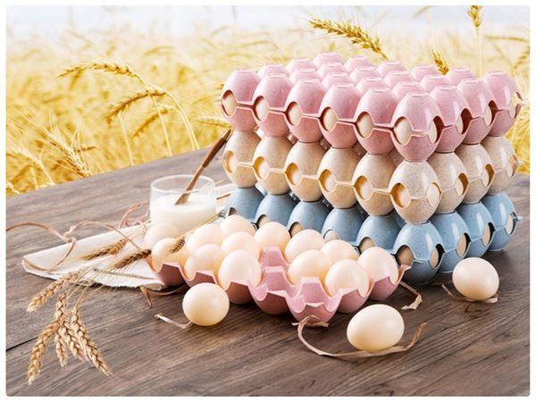 【小麥雞蛋盒15格】韓系北歐環保無毒小麥秸稈 雞蛋保鮮收納格 可堆疊收納盒 冰箱雞蛋格