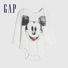 Gap嬰兒 Gap x Disney 迪士尼系列復古長袖包屁衣 650235-白色