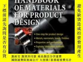 二手書博民逛書店Handbook罕見Of Materials For Product DesignY307751 Charle