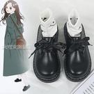 牛津鞋女英倫復古小皮鞋女21年春季新款韓版百搭厚底軟妹黑色大頭鞋 快速出貨