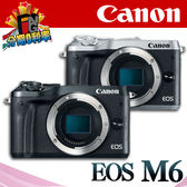 【24期0利率】平輸貨 Canon EOS M6 單機身 保固一年 W