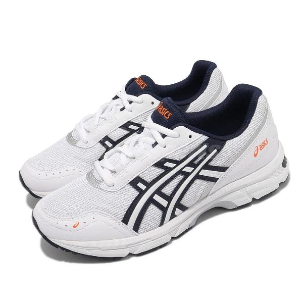 Asics 復古慢跑鞋 GEL-Escalate 男女款 白 藍 老爹鞋 休閒鞋【ACS】 1201A042102