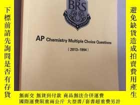 二手書博民逛書店AP罕見chemistry multiple choice qu