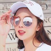 現貨-韓版ulzzang新款小框防紫外線復古ins墨鏡男女原宿網紅款圓框太陽眼鏡298