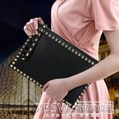 韓國東大門女包2019新款手拿包女歐美明星款大牌時尚鉚釘信封包『新佰數位屋』