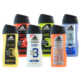 Adidas 愛迪達 3合1沐浴露 250ml 男用 潔顏洗髮沐浴露【BG Shop】6款可選