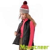 【Mountneer】女 輕量防風保暖背心『黑色』32V12 戶外.休閒.旅行.保暖.禦寒.防風.出國旅遊