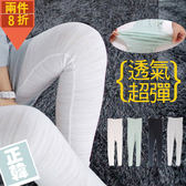 愛天使孕婦裝【52340】夏季薄款 透氣竹節棉內搭褲 孕婦褲(瑜珈腰圍) 多件折扣