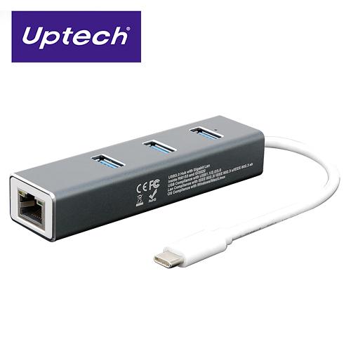 【Uptech】NET138H USB 3.0 TYPE-C網卡+集線器