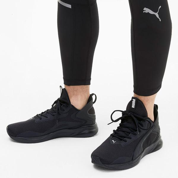 PUMA-SOFTRIDE RIFT TECH 男款黑色慢跑運動鞋-NO.19373705