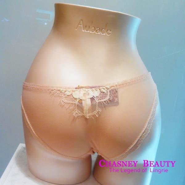 Chasney Beauty-鬱金香S蕾絲水晶三角褲(嫩粉)