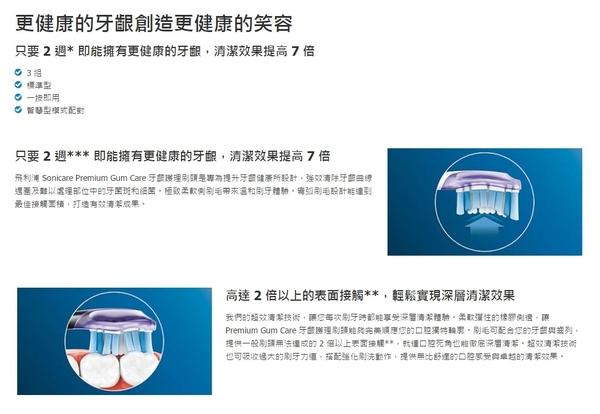 免運費 【PHILIPS飛利浦】智臻護齦標準型刷頭HX9053/32 (黑色)