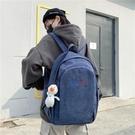後背包 燈芯絨書包女大學生韓版校園簡約雙肩包男時尚大容量可裝電腦背包 交換禮物
