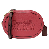 【COACH】新款大馬車LOGO小斜背相機包(桃粉/奶茶)