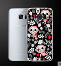 ♥ 俏魔女美人館 ♥Samsung Galaxy S7 Edge {可愛骷髏*輕立體浮雕硬殼} 手機殼 手機套 保護殼
