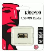 【免運費+加贈SD收納盒】Kingston 金士頓 FCR-MRG2 MicroSD/SDHC/SDXC USB讀卡機X1【附鑰匙圈繩】