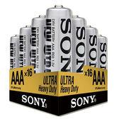 SONY 4號碳鋅電池16入