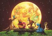 【拼圖總動員 PUZZLE STORY】月光下的派對 日本進口拼圖/Tenyo/迪士尼/小熊維尼/300P/夜光