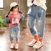 女童牛仔褲新款寶寶4休閒褲兒童3-7歲洋氣九分長褲潮 錢夫人小鋪