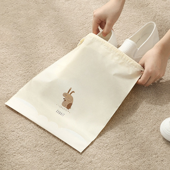 束口袋 密封袋 抽繩袋 整理袋 旅行 鞋袋 行李箱 收納 分類袋 洗漱 抽繩收納袋 (小)【A007】慢思行