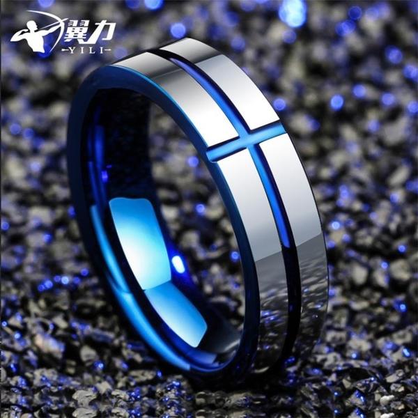 男士戒指單身潮個性鎢金食指韓版指環