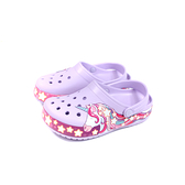 Crocs 涼鞋 前包後空 防水 粉紫色 獨角獸 童鞋 206270-530 no019