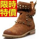 女款低跟短筒靴真皮-嚴選質感新款女馬丁靴子1色62d72【巴黎精品】
