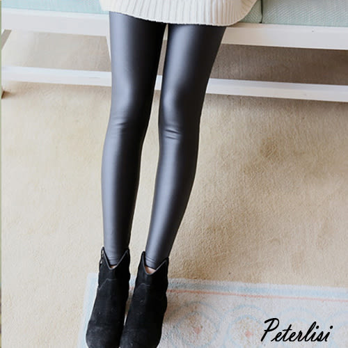 韓版時尚孕婦薄款托腹小腳皮褲 8823D 彼得麗絲