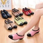 黑色好物節 春夏季雨鞋女時尚潮流低筒水鞋淺口短筒雨靴膠鞋防滑水靴懶人套鞋