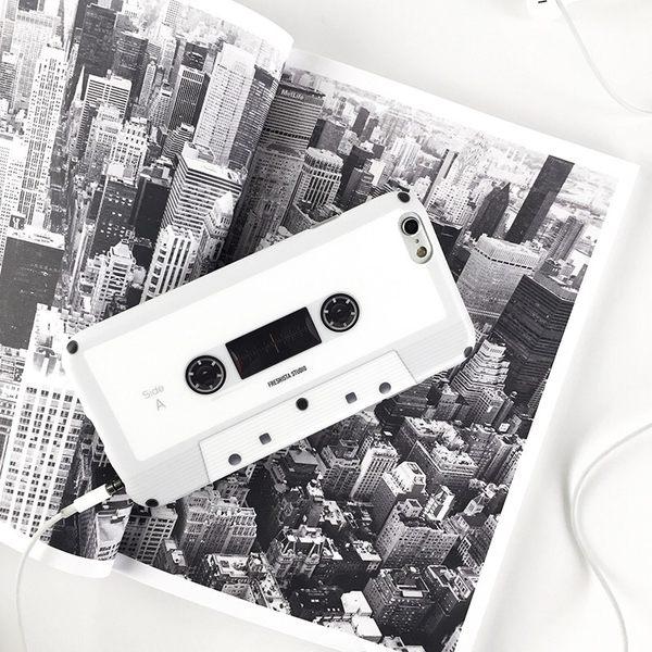 iPhoneX手機殼 仿真復古磁帶卡帶錄音帶 磨砂軟殼 蘋果 iPhone8X/iPhone7/6Plus