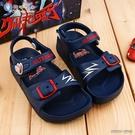 童鞋城堡-兒童涼鞋 輕量款 大河 超人力霸王 UM0267-藍