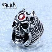 骷髏日韓版單身潮男食指環飾品 ☸mousika