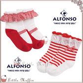韓女孩風滾邊娃娃鞋型蝴蝶結短襪地板襪二雙一組
