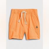 Gap男嬰棉質裝飾繩鬆緊腰休閒短褲547382-橙色
