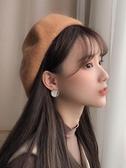 帽子 貝雷帽女秋冬韓版日系百搭休閒英倫復古學生可愛時尚蓓蕾帽冬