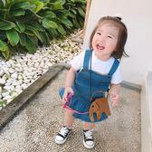 女寶寶連身裙純棉舒適可愛休閒裝夏季2018新款背帶牛仔裙 森活雜貨