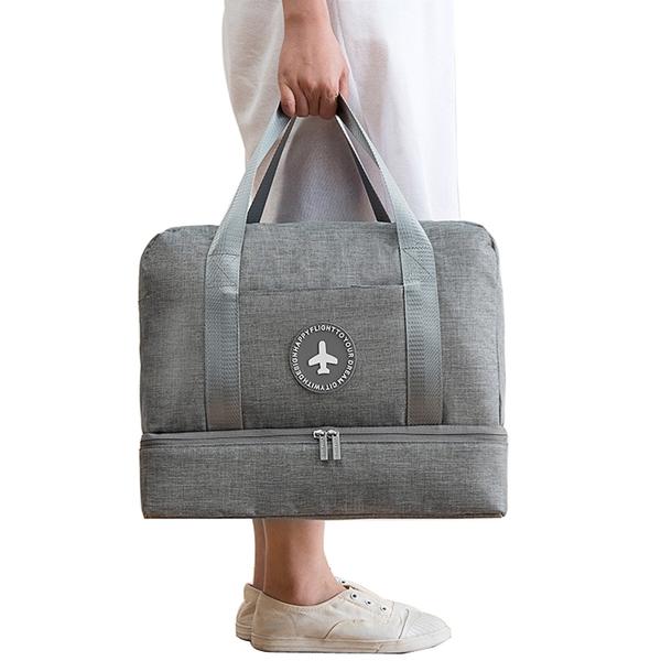 PUSH!旅遊用品防水乾濕分離手提行李包行李收納包鞋包沙灘包大容量S52