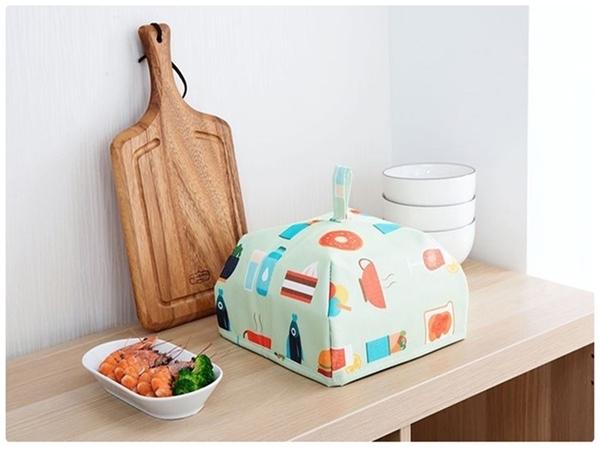 【鋁箔保溫菜罩小號】可折疊飯菜保溫蓋 加厚鋁箔保鮮防塵食物罩 摺疊收納防蒼蠅餐桌罩