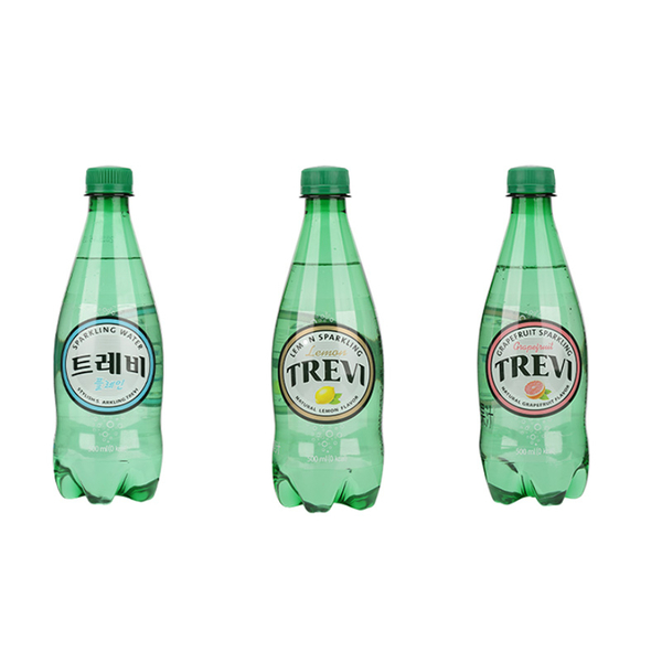 韓國 LOTTE 樂天氣泡水 500ml 氣泡水 原味 檸檬 葡萄柚 【庫奇小舖】