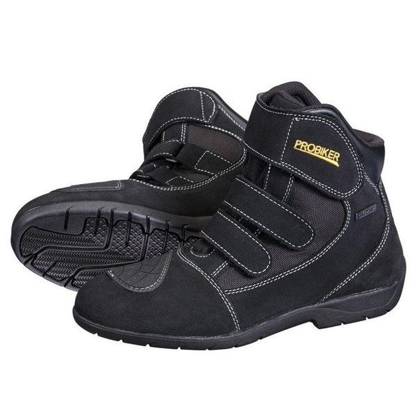 【德國Louis】PROBIKER VISION摩托車鞋 重型機車鞋 中筒低筒摩托車靴 黑色真皮防水