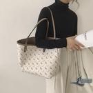 女士側背包 簡約時尚小馬托特包高級感大容量包包【邻家小鎮】