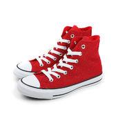 CONVERSE Chuck Taylor All Star Material 帆布鞋 高筒 紅色 女鞋 549646C no193